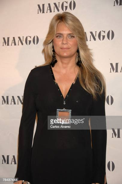 Isabel Sartorius arrives to the Mango Party on July 16 2007 at Atzaro Hotel in Ibiza Spain