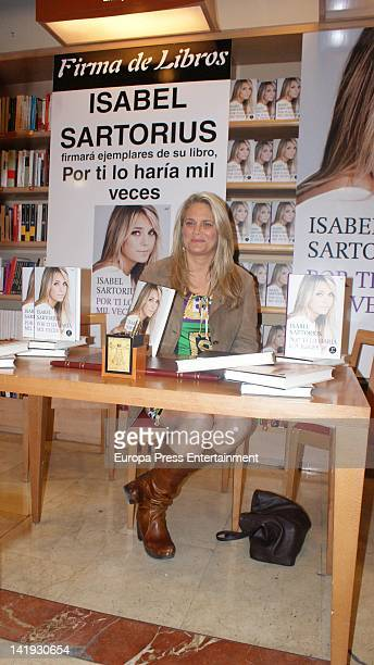 Isabel Sartorius attends 'Por Ti Lo Haria Mil Veces' book signing on March 23 2012 in Madrid Spain