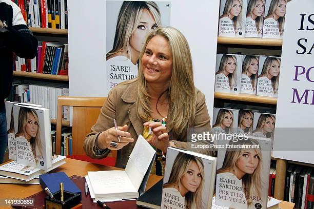 Isabel Sartorius attends 'Por Ti Lo Haria Mil Veces' book signing on March 23 2012 in Madrid Spain