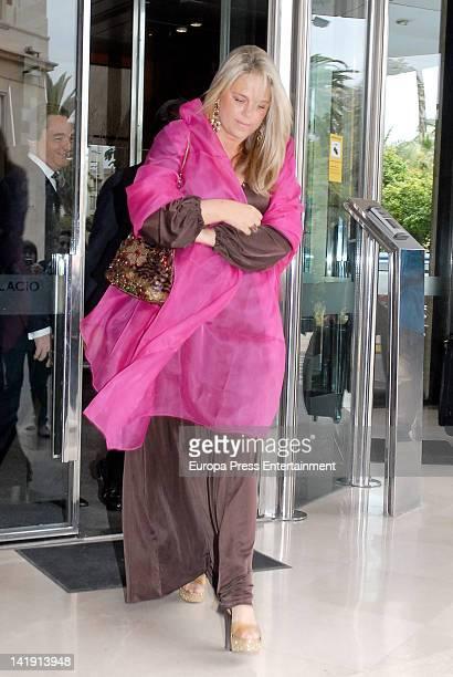 Isabel Sartorius attends the wedding of Alvaro Fuster and Beatriz Mira at Hacienda Nadales on March 24 2012 in Malaga Spain