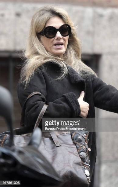 Isabel Sartorius celebrates her 53's birthday with friends on January 20 2018 in Madrid Spain