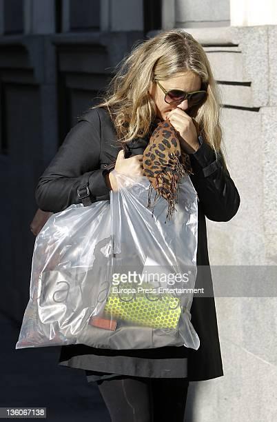 Isabel Sartorius is seen leaving a dietetic shop on December 21 2011 in Madrid Spain