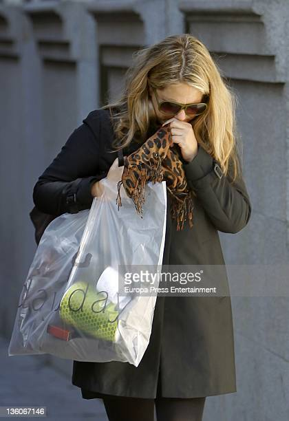 Isabel Sartorius is seen leaving a dietetic shop on December 21 2011 in Madrid Spain