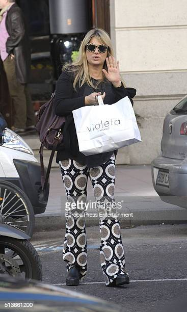 Isabel Sartorius is seen on March 3 2016 in Madrid Spain