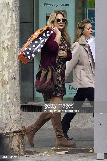 Isabel Sartorius is seen on October 29 2015 in Madrid Spain