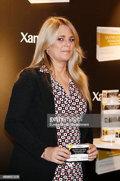Isabel Sartorius presents Xanthigen products on April 15 2015 in Madrid Spain
