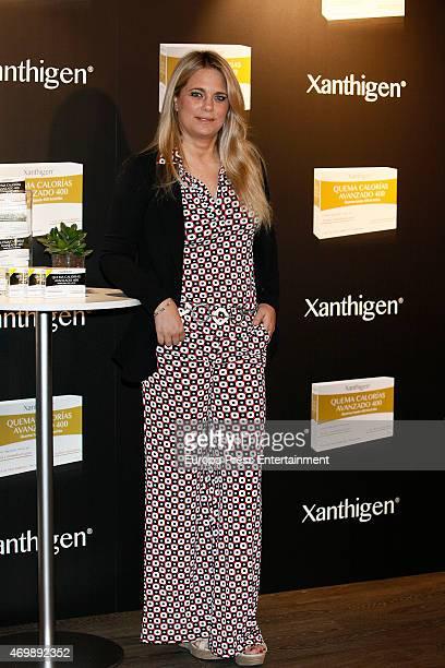 Isabel Sartorius presents Xanthigen productsn on April 15 2015 in Madrid Spain