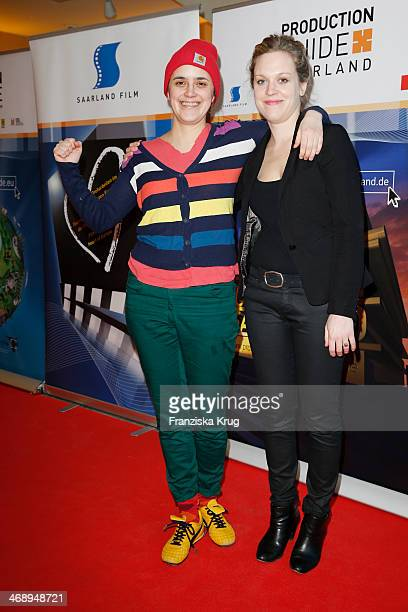 Isabel Schubert and Anne Haug attend the Saarland Film Reception during 64th Berlinale International Film Festival at Saarland Landesvertretung on...