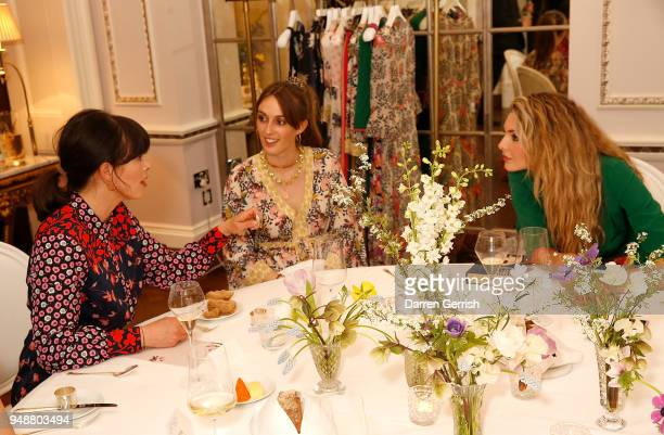 Isabel Spearman Alice Manners and Tamsin Egerton attend the Boden Icons SS18 dinner at The Connaught Hotel on April 19 2018 in London England