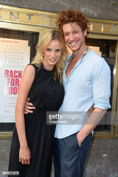 Isabel Thierauch and Daniel Donskoy attend the 'Back for Good' premiere on May 31 2018 in Berlin Germany