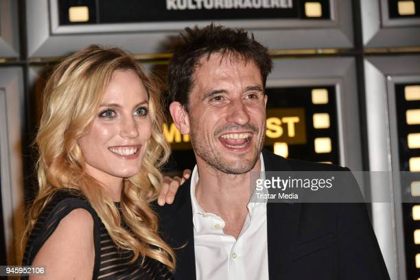 Isabel Thierauch and Oliver Mommsen during the premiere 'Die Haut der Anderen' at Kino in der Kulturbrauerei on April 13 2018 in Berlin Germany