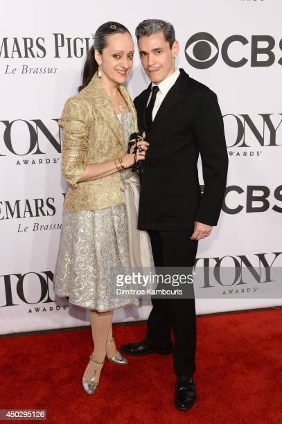 Isabel Toledo and Ruben Toledo attend the 68th Annual Tony Awards at Radio City Music Hall on June 8 2014 in New York City