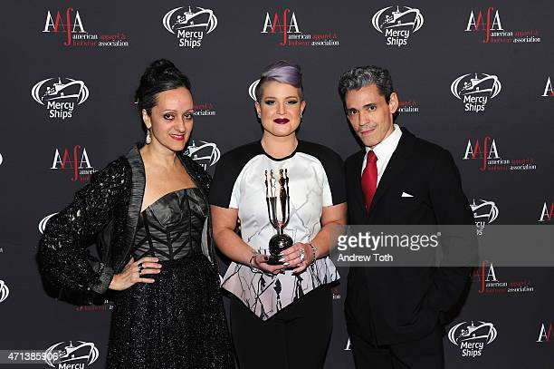 Isabel Toledo Kelly Osbourne and Ruben Toledo attend the 2015 AAFA American Image Awards on April 27 2015 in New York City