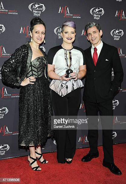 Isabel Toledo Kelly Osbourne and Ruben Toledo attend the AAFA American Image Awards at 583 Park Avenue on April 27 2015 in New York City