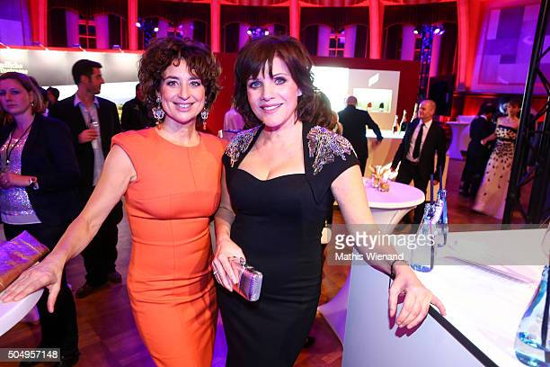 Isabel Varell and Birgit Schrowage attend the German Television Award at Rheinterrasse on January 13 2016 in Duesseldorf Germany