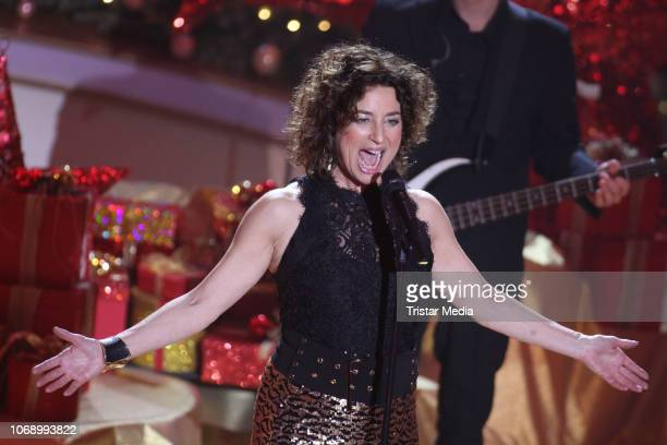 Isabel Varell performs during the charity tv show 'Die schoensten WeihnachtsHits' in favor of MISEREOR and Brot fuer die Welt on December 5 2018 in...