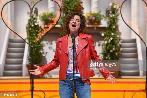 Isabel Varell performs the 2nd ARD live TV show 'Immer wieder sonntags' at EuropaPark on May 26 2019 in Rust Germany