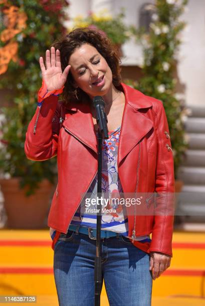 Isabel Varell performs the 2nd ARD live TV show 'Immer wieder sonntags' at Europa-Park on May 26, 2019 in Rust, Germany.