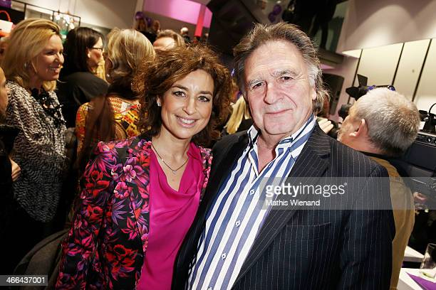 Isabel Varell Pit Weyrich attend the Laurel store opening on February 1 2014 in Dusseldorf Germany