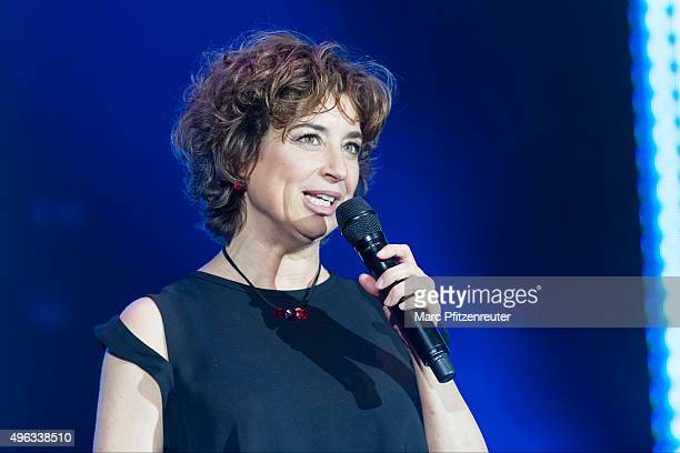 Isabel Varell presents onstage the 'SchlagerStarparade' at the KoenigPilsenerArena on November 8 2015 in Oberhausen Germany