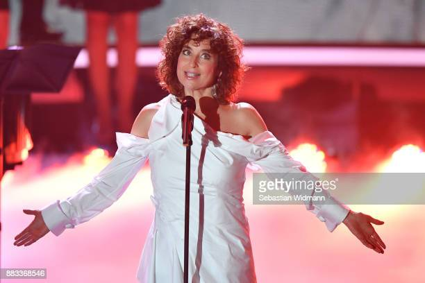 Isabel Varell sings during the tv show 'Heiligabend mit Carmen Nebel' on November 29 2017 in Munich Germany The show will be aired on December 24 2017