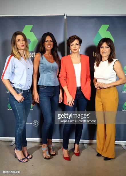 Isabel Zubiaurre Cristina Saavedra Cristina Villanueva and Helena Resano attend the presentation of the new season of 'La Sexta' Tv channel on...