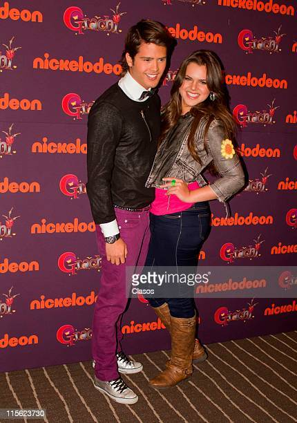 Isabela Castillo and Andres Mercado during the presentation of TV show Grachi at W Hotel on June 8 2011 in Mexico City Mexico