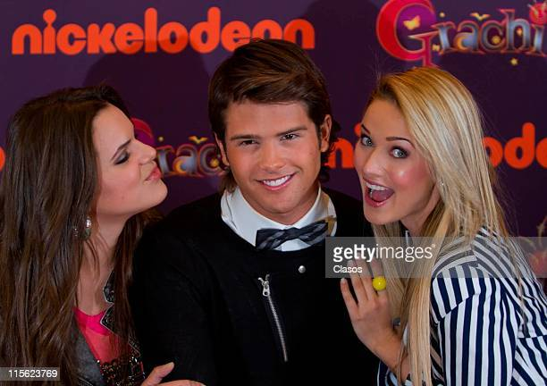 Isabela Castillo Andres Mercado and Kimberly dos Ramos during the presentation of TV show Grachi at W Hotel on June 8 2011 in Mexico City Mexico