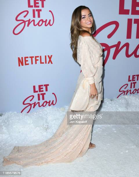 """Isabela Merced attends the LA premiere of Netflix's """"Let It Snow"""" at Pacific Theatres at The Grove on November 04, 2019 in Los Angeles, California."""