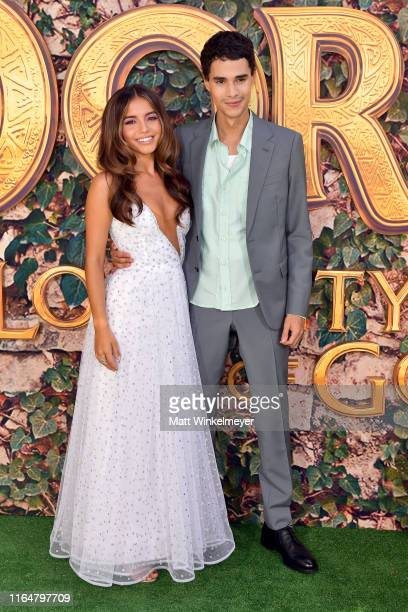"""Isabela Moner and Jeff Wahlberg attend the LA Premiere of Paramount Pictures' """"Dora And The Lost City Of Gold"""" at Regal Cinemas L.A. Live on July 28,..."""