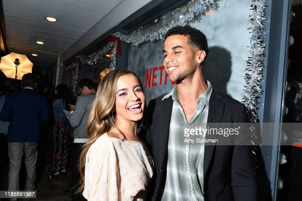 "Isabela Moner and Mason Goodin attend the after party for Netflix's ""Let It Snow"" at Swingers on November 04, 2019 in Los Angeles, California."
