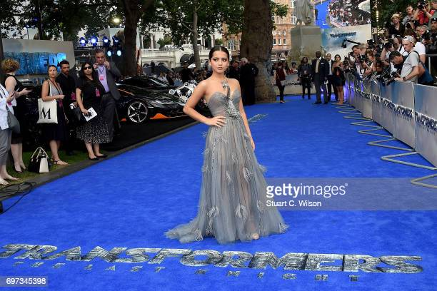Isabela Moner attends the global premiere of 'Transformers The Last Knight' at Cineworld Leicester Square on June 18 2017 in London England