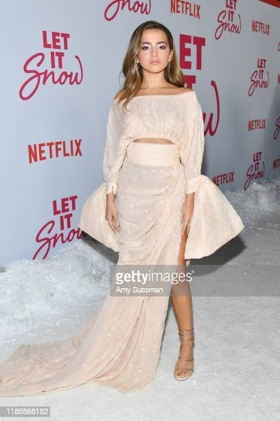 "Isabela Moner attends the premiere of Netflix's ""Let It Snow"" at Pacific Theatres at The Grove on November 04, 2019 in Los Angeles, California."