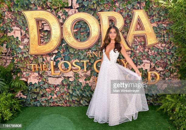 "Isabela Moner attends the LA Premiere of Paramount Pictures' ""Dora And The Lost City Of Gold"" at Regal Cinemas L.A. Live on July 28, 2019 in Los..."