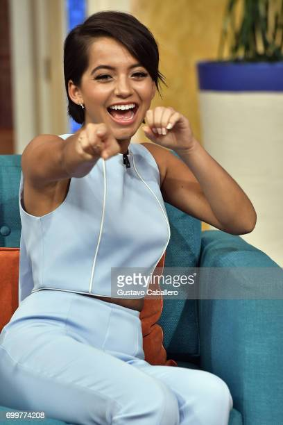 Isabela Moner is seen on the set of 'Despierta America' to promote the film Transformers The Last Knight at Univision Studios on June 22 2017 in...