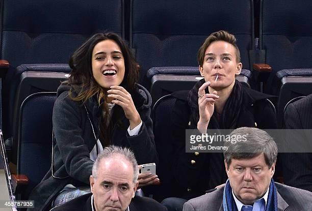 Isabela Rangel and Elliott Sailors attend the Columbus Blue Jackets vs New York Rangers game at Madison Square Garden on December 12 2013 in New York...