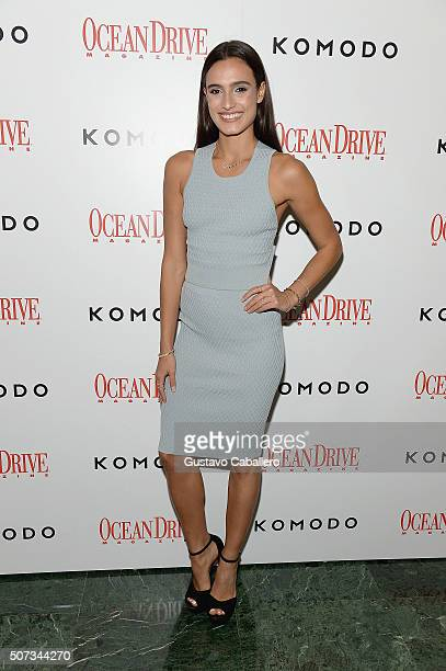 Isabela Rangel attends the Ocean Drive Magazine Hosts 23rd Anniversary with Ashley Benson on January 28 2016 in Miami Florida