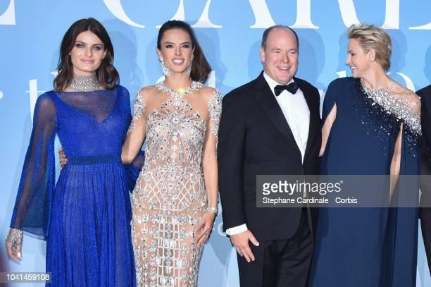Isabeli Fontana Alessandra Ambrosio Prince Albert II of Monaco and Princess Charlene of Monaco attend the MonteCarlo Gala for the Global Ocean 2018...