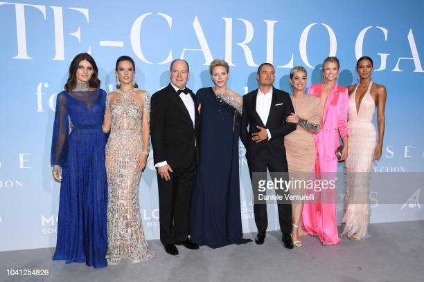 Isabeli Fontana Alessandra Ambrosio Prince Albert II of Monaco Princess Charlene of Monaco Orlando Bloom Katy Perry Toni Garrn and Lais Ribeiro...