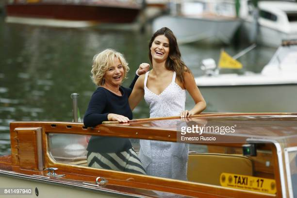 Isabeli Fontana and Alberta Ferretti are seen during the 74th Venice Film Festival on September 1 2017 in Venice Italy