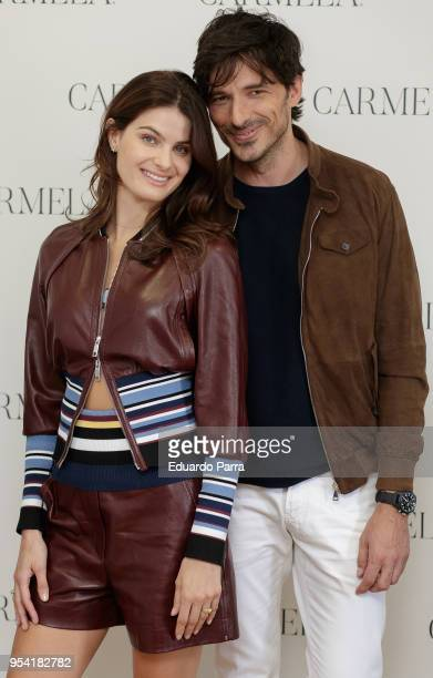 Isabeli Fontana and Andres Velencoso present SS18 Carmela Campaign on May 3 2018 in Madrid Spain