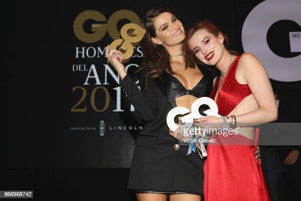 Isabeli Fontana and Bella Thorne attend the GQ Mexico Men of The Year Awards 2017 on October 26 2017 in Mexico City Mexico