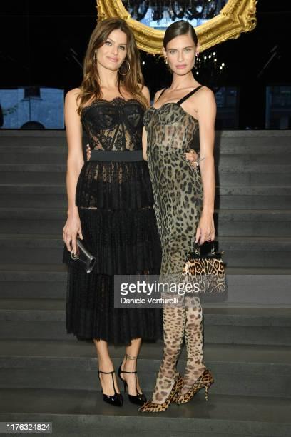 Isabeli Fontana and Bianca Balti attend Dolce & Gabbana - Front Row - Milan Fashion Week Spring/Summer 2020 on September 22, 2019 in Milan, Italy.