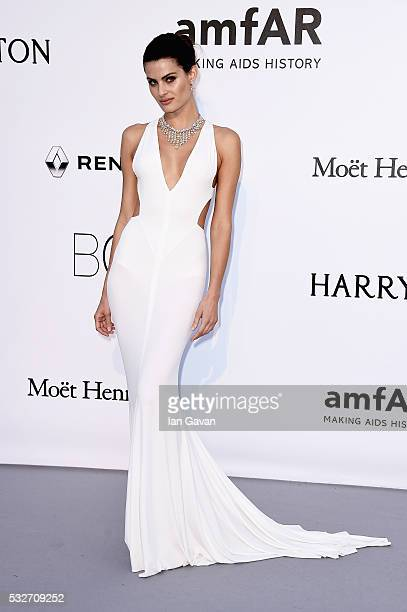 Isabeli Fontana arrives at amfAR's 23rd Cinema Against AIDS Gala at Hotel du CapEdenRoc on May 19 2016 in Cap d'Antibes France