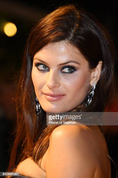 Isabeli Fontana arrives at the dinner after the Opening Ceremony during the 74th Venice Film Festival at Excelsior Hotel on August 30 2017 in Venice...