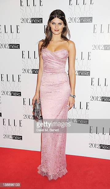 Isabeli Fontana arrives at the ELLE Style Awards at The Savoy Hotel on February 13 2012 in London England