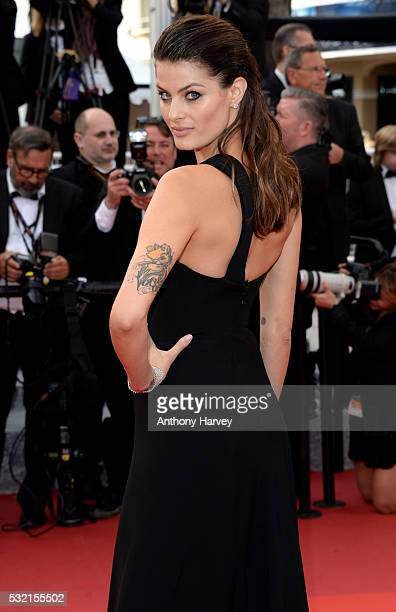 Isabeli Fontana attends a screening of The Unknown Girl at the annual 69th Cannes Film Festival at Palais des Festivals on May 18 2016 in Cannes...
