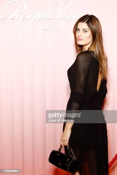 Isabeli Fontana attends Sensorama Vivier the Roger Vivier press day at Fondation Cino et Simone del Duca during Paris Fashion Week Womenswear Fall...