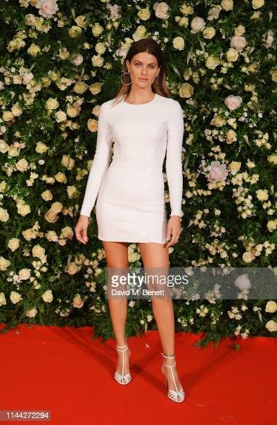 Isabeli Fontana attends the 10th Annual Filmmakers Dinner hosted by Charles Finch, Edward Enninful and Michael Kors at the Hotel du Cap-Eden-Roc on...
