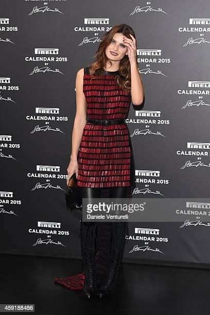 Isabeli Fontana attends the 2015 Pirelli Calendar Red Carpet on November 18 2014 in Milan Italy